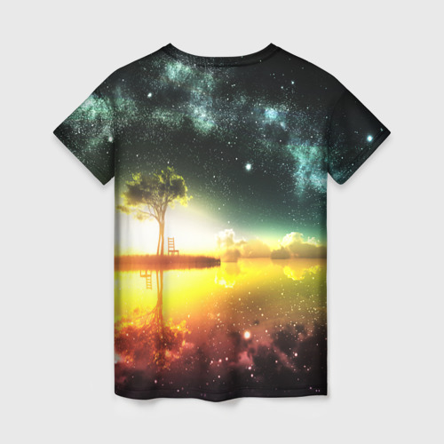 Женская футболка 3D Закат со звездами Фото 01