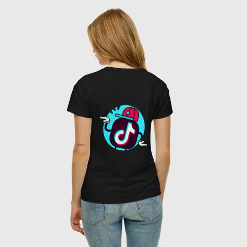 Женская футболка хлопок TIK TOK + (НА СПИНЕ) Фото 01