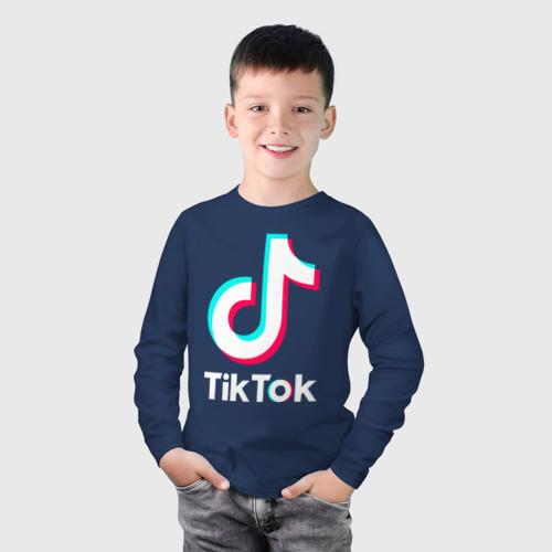 Детский лонгслив хлопок TIK TOK + (НА СПИНЕ) Фото 01