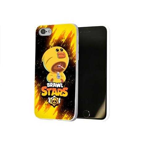 Чехол для Apple iPhone 7/8 soft-touch NEW BRAWL STARS SALLY LEON. Фото 01