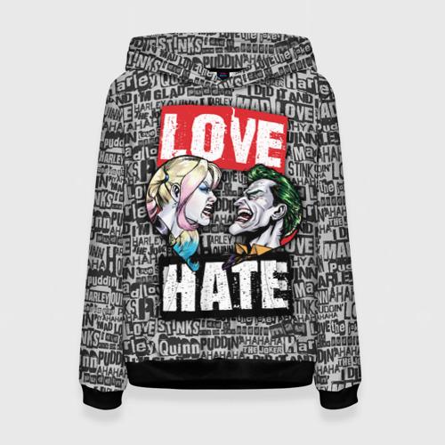 Женская толстовка 3D Love Hate Фото 01