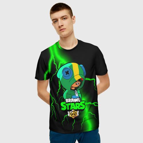 Мужская футболка 3D Brawl Stars LEON Фото 01