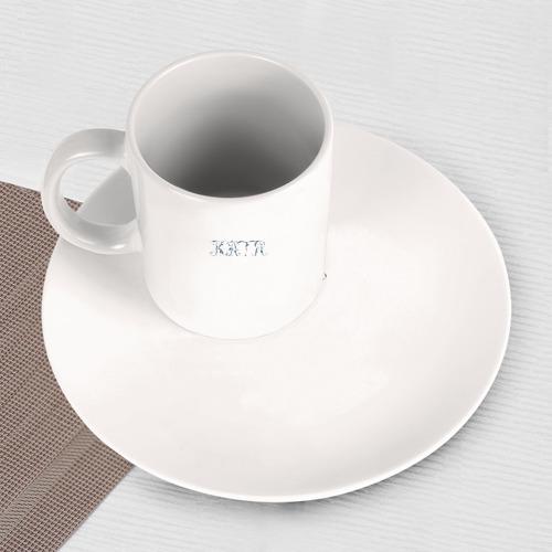 Набор: тарелка + кружка Катя (вензеля) Фото 01