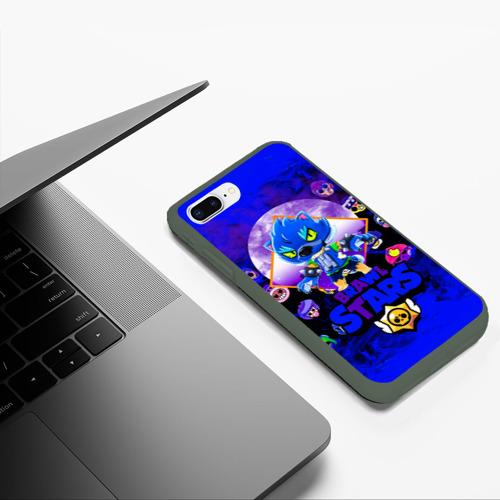 Чехол для iPhone 7Plus/8 Plus матовый BRAWL STARS LEON WOLF Фото 01