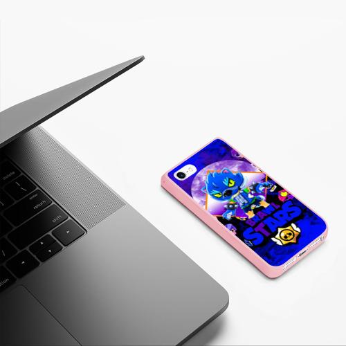 Чехол для iPhone 5/5S матовый BRAWL STARS LEON WOLF Фото 01