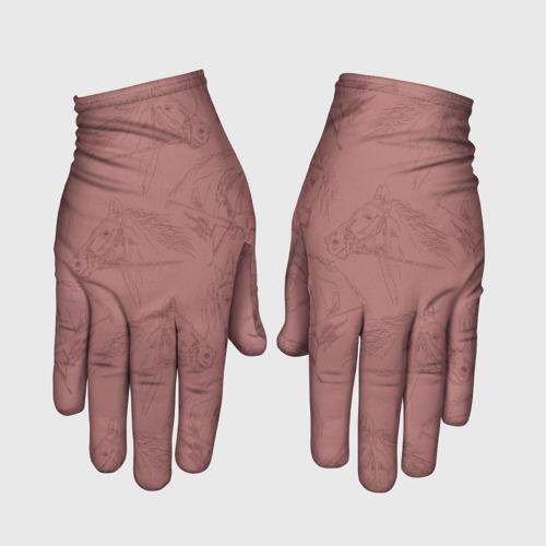 Перчатки 3D Кони Фото 01