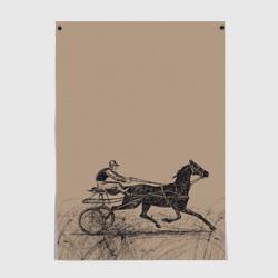 лошадь с колесницей