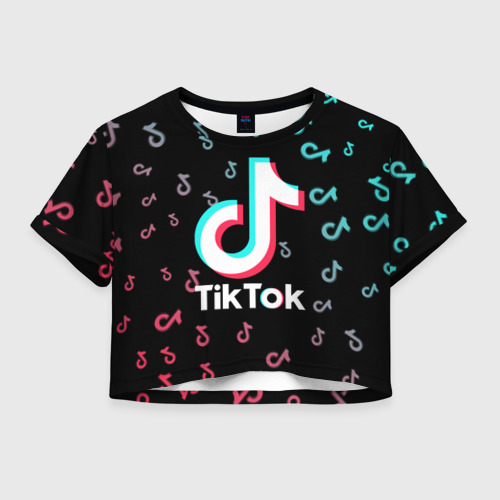 Женская футболка Crop-top 3D Tik Tok Фото 01