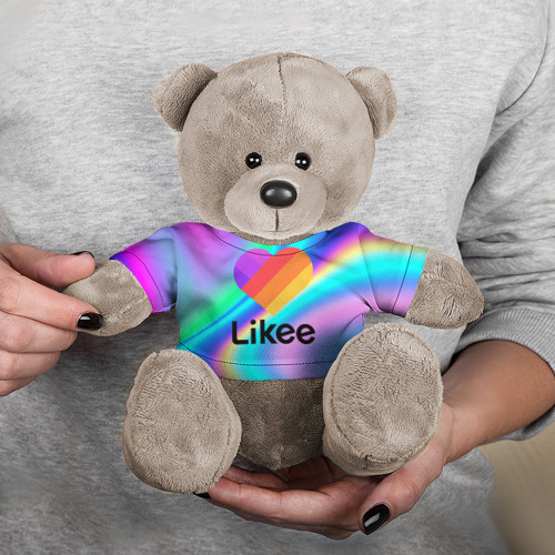 Мишка в футболке 3D LIKEE GRADIENT Фото 01