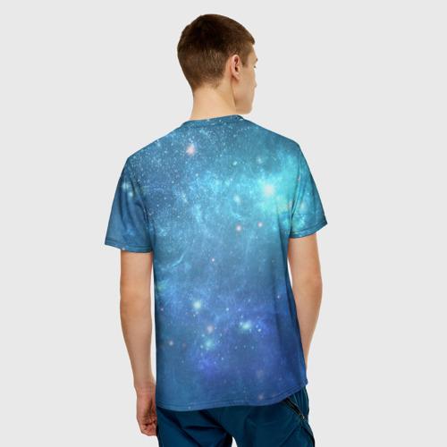 Мужская футболка 3D Идущий к реке Фото 01
