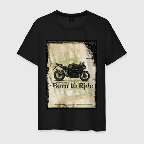 Мужская футболка хлопок Born to Ride Фото 01