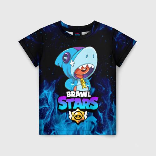 Детская футболка 3D BRAWL STARS LEON SHARK Фото 01