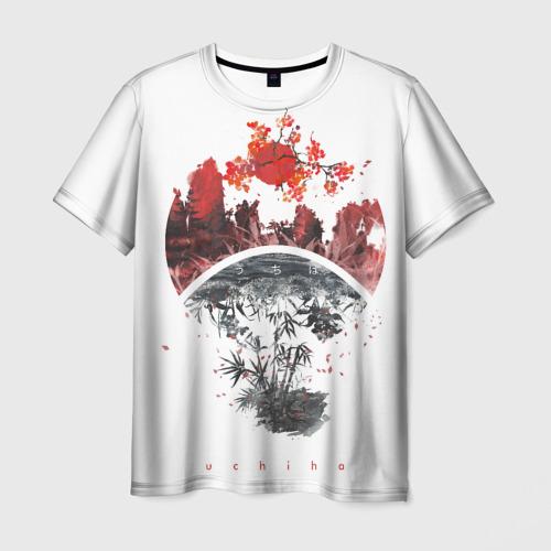 Мужская футболка 3D Clan Sign Landscape Sakura daw Фото 01