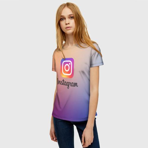 Женская футболка 3D ИНСТАГРАМ Фото 01