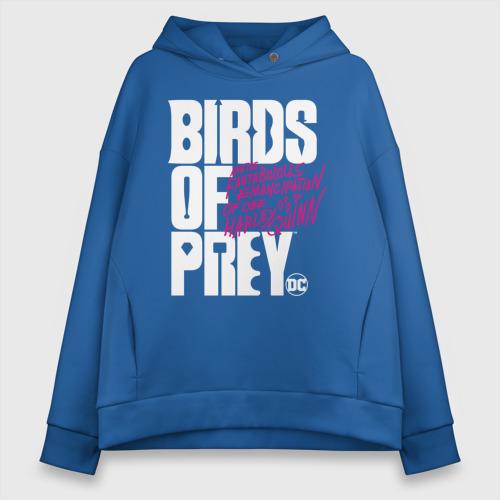 Женское худи Oversize хлопок Birds of Prey logo Фото 01