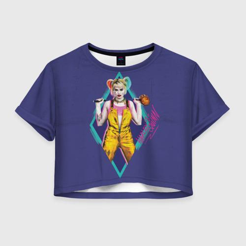 Женская футболка Crop-top 3D Harley Quinn Фото 01