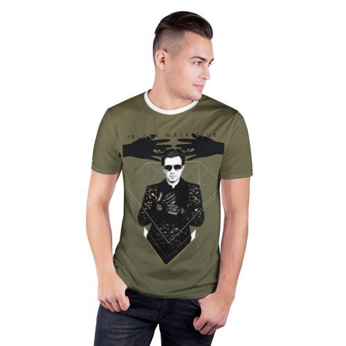 Мужская футболка 3D спортивная Black mask club Фото 01