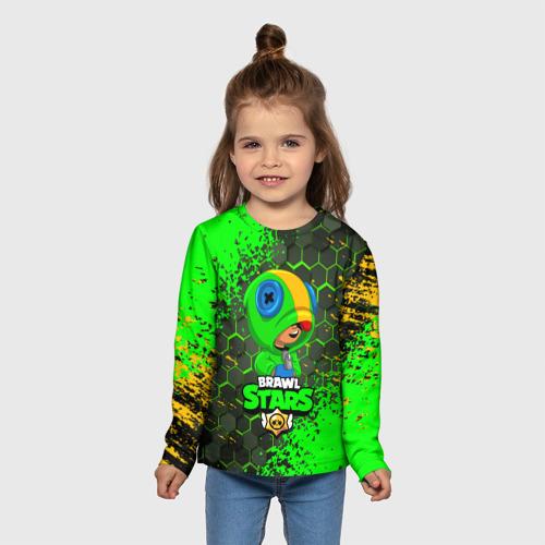 Детский лонгслив 3D BRAWL STARS LEON. Фото 01