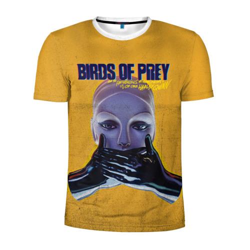 Мужская футболка 3D спортивная Birds of Prey Black mask Фото 01