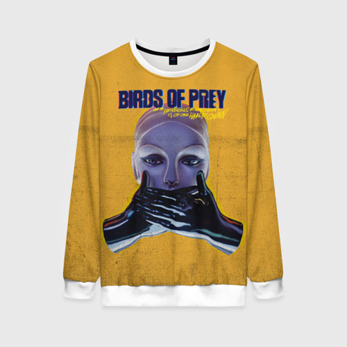 Женский свитшот 3D Birds of Prey Black mask Фото 01