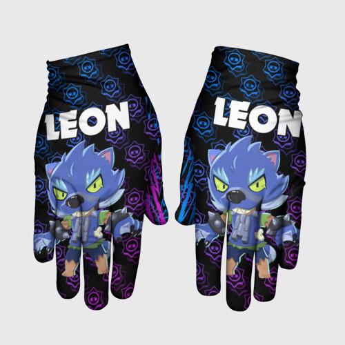 Перчатки 3D BRAWL STARS LEON ОБОРОТЕНЬ. S фото