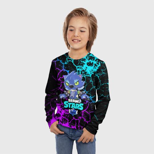 Детский лонгслив 3D BRAWL STARS LEON ОБОРОТЕНЬ. Фото 01