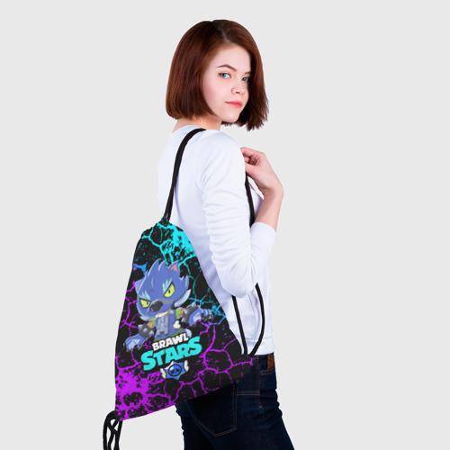 Рюкзак-мешок 3D BRAWL STARS LEON ОБОРОТЕНЬ. Фото 01