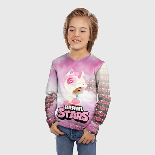 Детский лонгслив 3D Leon Unicorn Brawl Stars Фото 01