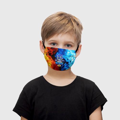 Детская маска (+5 фильтров) BRAWL STARS LEON | ЛЕОН ОБОРОТЕНЬ Фото 01