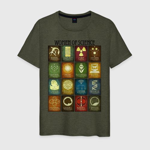 Мужская футболка хлопок Women of science Фото 01