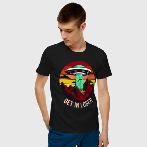 Мужская футболка хлопок Get in loser Фото 01