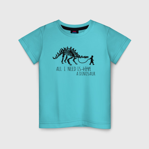 Детская футболка хлопок All a need is dinosaur Фото 01