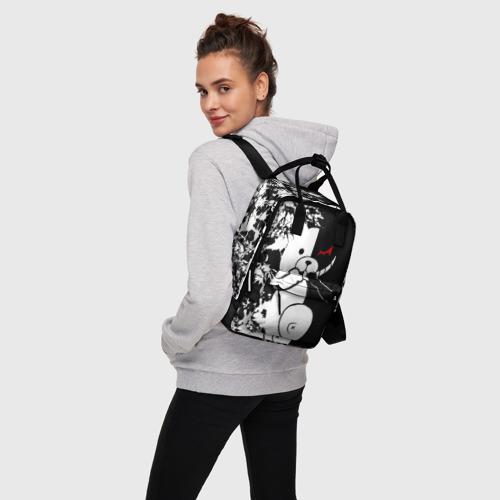 Женский рюкзак 3D MONOKUMA держит руки Фото 01