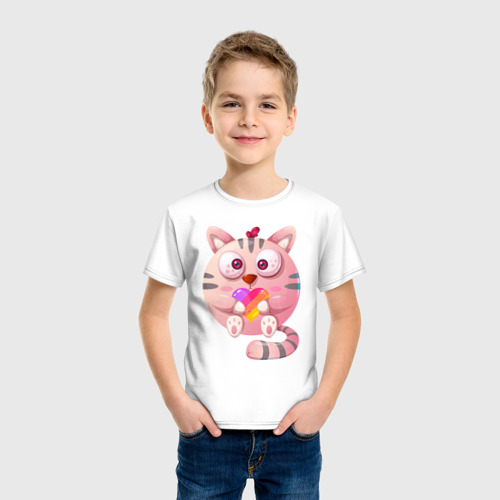 Детская футболка хлопок Котик Likee Фото 01