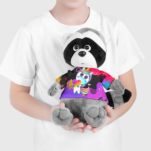 Енотик в футболке 3D Единорог Likee Фото 01