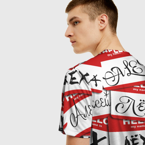 Мужская футболка 3D Hello, my name is... Фото 01