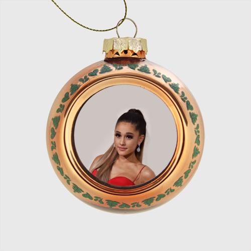 Стеклянный ёлочный шар Ariana Grande (Ариана Гранде) Фото 01