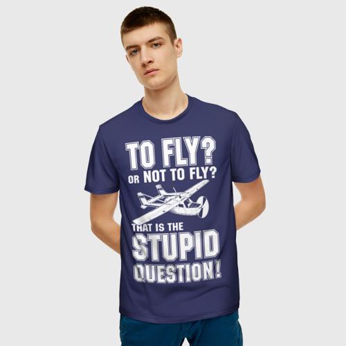 Мужская футболка 3D Летать, или не летать? Фото 01