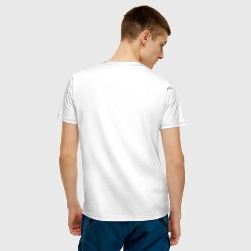 Мужская футболка хлопок Будь Счастлив, Ты на Земле за  1050 рублей в интернет магазине Принт виды с разных сторон