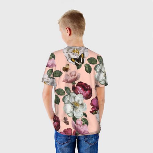 Детская футболка 3D Весна, Цветы и бабочки за  1025 рублей в интернет магазине Принт виды с разных сторон