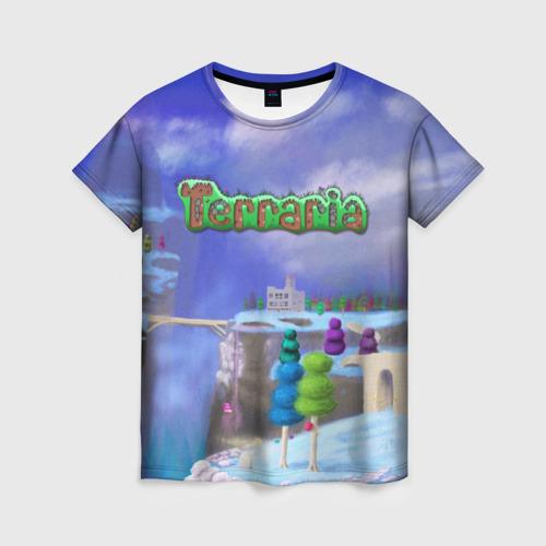 Женская футболка 3D Terraria за  1025 рублей в интернет магазине Принт виды с разных сторон