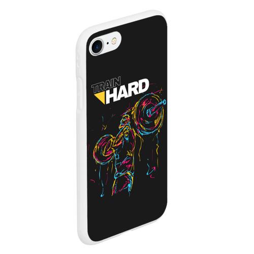 Чехол для iPhone 7/8 матовый Train hard Фото 01