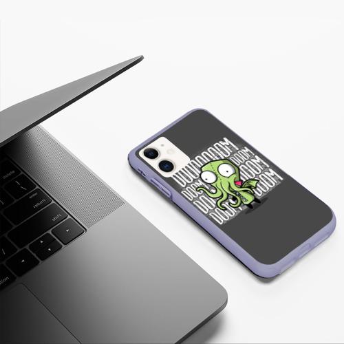 Чехол для iPhone 11 матовый Ктулху Фото 01
