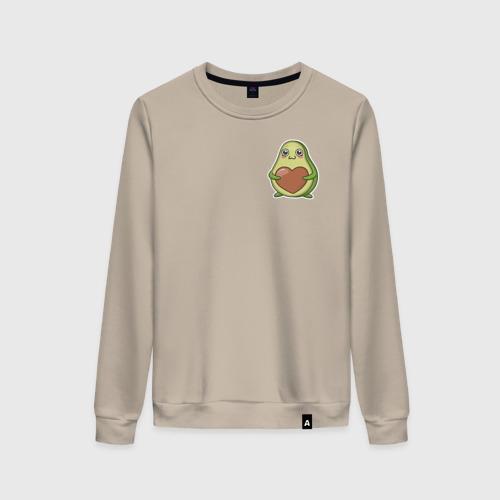 Женский свитшот хлопок Avocado Heart Фото 01
