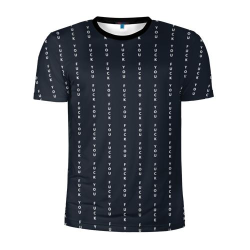 Мужская футболка 3D спортивная FUCK YOU (как у Конор МакГрегор) Фото 01
