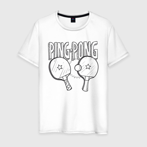 Мужская футболка хлопок  пинг понг Фото 01