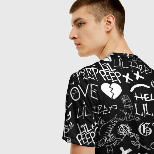Мужская футболка 3D LIL PEEP LOGOBOMBING | ЛИЛ ПИП Фото 01