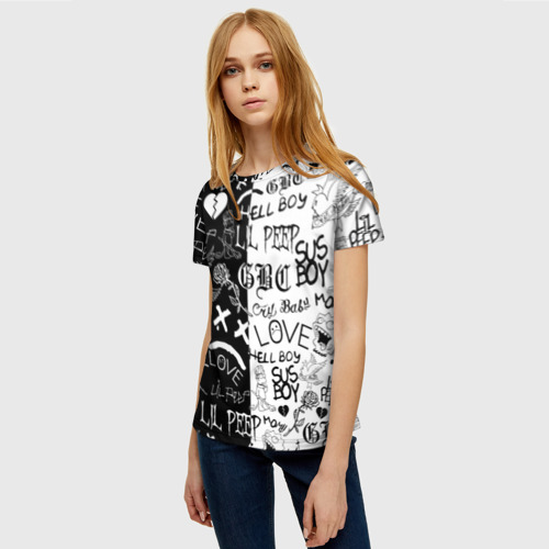 Женская футболка 3D LIL PEEP LOGOBOMBING Фото 01