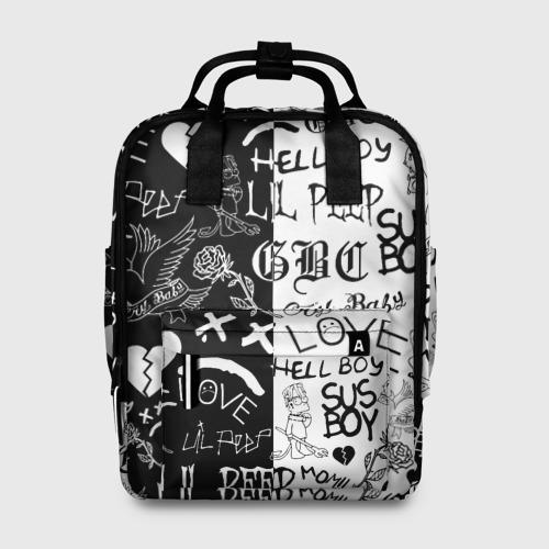 Женский рюкзак 3D LIL PEEP LOGOBOMBING Фото 01