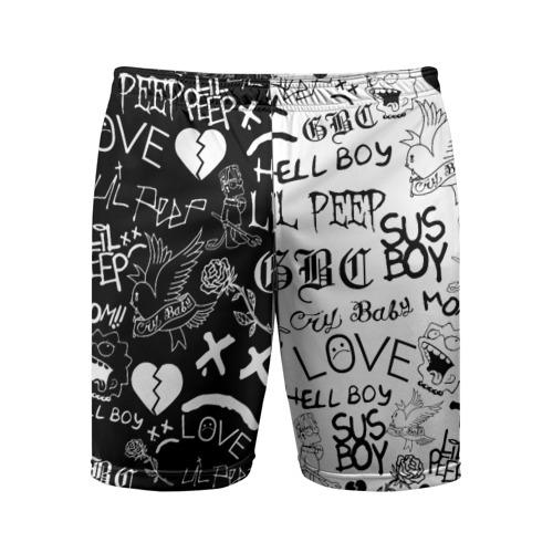 Мужские шорты спортивные LIL PEEP LOGOBOMBING Фото 01